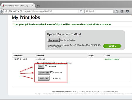 Printing step 3 screenshot
