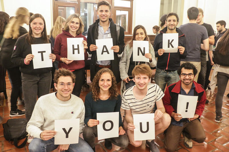 THANK YOU! I-House Residents are grateful for your support