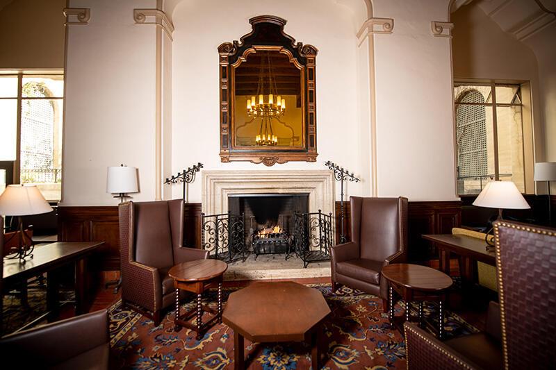 Great Hall Fireplace scene