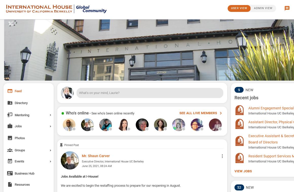 I-House Berkeley Connect Screenshot