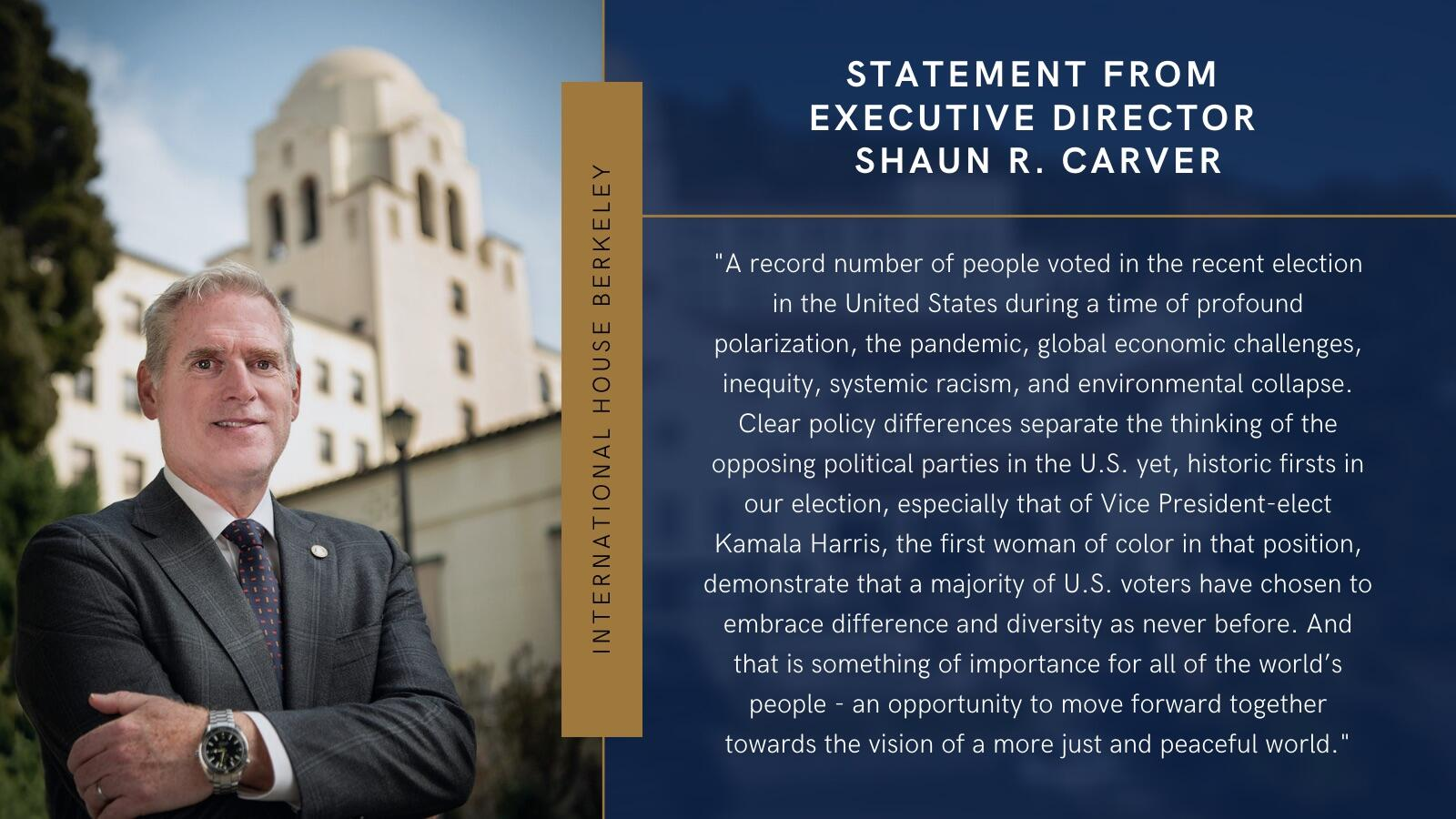 Update from Executive Director Shaun Carver