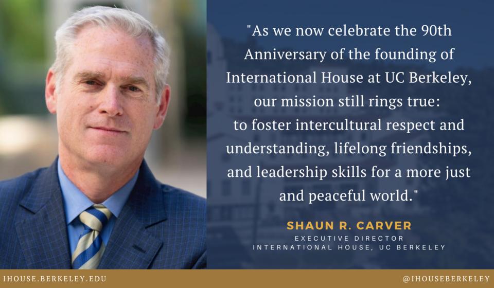 Shaun Carver, I-House Executive Director