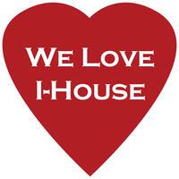 """Heart shape """"We Love I-House"""""""